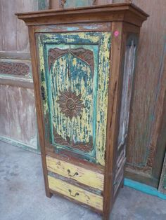 Bali Furniture Recycled Boat Timber Cupboard Dresser Console Sideboard Vinatge