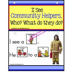 Autism - Build A Sentence with Pictures Interactive - COMMUNITY HELPERS:  Forming sentences for our young learners or those with autism, can be challenging. Using real-life pictures for easy recognition of Community Helpers, students love learning to read and form sentences. - See more at: http://autismeducators.com/browse-worktasks/reading/Autism---Build-A-Sentence-with-Pictures-Interactive---COMMUNITY-HELPERS-AutismEducators?limit=100#sthash.K3Li8dKR.dpuf
