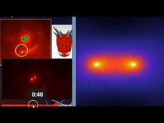 WOW! First Images of 'Dark Matter Bridge' Look Eerily Similar to Hidden Red Dragon - YouTube 3:10 04-14-2017 (aka 'Gravity Bridge' aka 'Two Galaxies') (Red Dragon of Rev 12 Sept 23, 2017. Nibiru? The 7 Trumpets of Rev.)