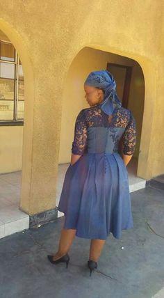 African Wedding Dress, African Print Dresses, African Dresses For Women, African Print Fashion, African Wear, African Attire, African Fashion Dresses, African Women, Sotho Traditional Dresses