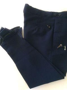 Bogner Ski Pants Fantastiss VTG West Germany Speed Stirrup/Navy/Size: 32 X-Short