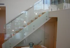 glass balustrade for the staircase Indoor Railing, Patio Railing, Railing Ideas, Rustic Staircase, Staircase Railings, Staircases, Balustrade Design, Glass Railing System, Frameless Glass Balustrade