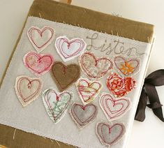 Art Quilt Journal | free motion embroidery hearts