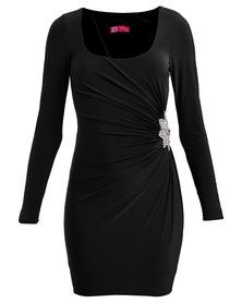 City Goddess London Diamante Trim L/S Jersey Mini Dress Black Formal Wear, Formal Dresses, Fashion Hub, Playsuits, South Africa, Dress Black, Evening Dresses, Latest Trends, Shops