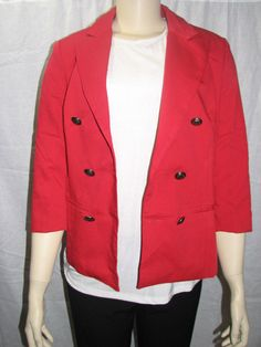 Forever 21 Double Breasted Blazer Red, Size Large