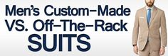 Men's Custom-made vs. Off-the-Rack Suits