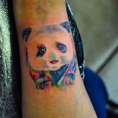Watercolor Panda Tattoo  He was, he is and he'll always be my PAndy