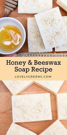 Handmade Soap Recipes, Soap Making Recipes, Handmade Soaps, Diy Soaps, Beeswax Recipes, Honey Soap, Honey Recipes, Goat Milk Recipes, Home Made Soap