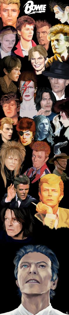 """silvermoon822: """"David Bowie 2014. it is done. I am exhausted. artwork by silvermoon822 happy belated birthday, David. You are truly my inspiration """" Three years later and I still love you just as much. You've taught me so much either directly or..."""