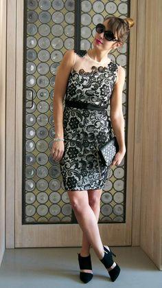 #lace #dress #heels