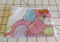 Popples Fabric  Coin Purse--Vintage-   PJ- Party- Puffball- Pancake  American Greetings by kraftyminds on Etsy