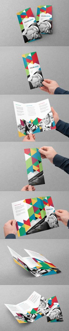 Colorful Business Trifold on Behance
