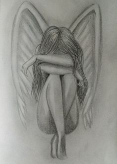 O kanatlar her zaman var yeterki güven. Those wings always have enough confidence . Pencil Drawings Tumblr, Girl Drawing Sketches, Sad Drawings, Dark Art Drawings, Sad Girl Drawing, Angel Drawing, Arte Sketchbook, Pencil Portrait, Profile