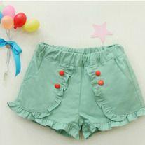 Blue Baby Girl Shorts by Vindie Baby Kind, My Baby Girl, Baby Girls, Outfits Niños, Kids Outfits, Little Girl Fashion, Kids Fashion, Girls Pants, Girl Shorts