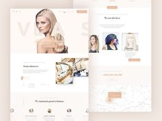 Need inspiration for your hairdresser, salon or barber shop design? Look no further! This free PSD includes pretty pink styling ideas for a homepage slider, staff, customer reviews and more.