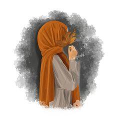 hijab e noor - Hijab Hijab Hijab Anime, Anime Muslim, Cartoon Kunst, Cartoon Art, Cartoon Drawings, Cartoon Characters, Girly Drawings, Couple Drawings, Sarra Art
