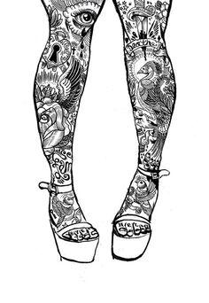 tattoo leggys by Iain Macarthur