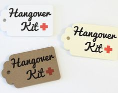 Hangover Kit Tags, Bachelorette Favor, Kraft Tag, Paper Tag, Survival Kit, Wedding Hangover Kit, Wedding Party Favor, Hotel Welcome Bag