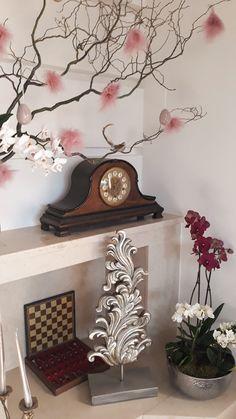 Easter Flowers, Floral Arrangements, Orchids, Clock, Home Decor, Watch, Decoration Home, Room Decor, Flower Arrangement