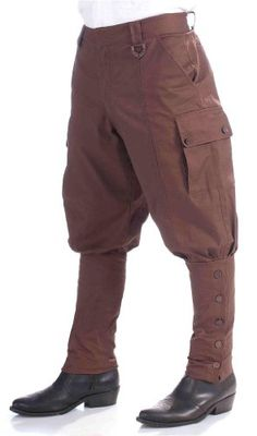 Steampunk Brown Pants -  #Brown, #Pants, #Steampunk