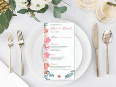 Border Printable Wedding Menu Template, editable, add your own menu. DIY Editable printable menu, edit in WORD or PAGES Simple Wedding Menu, Wedding Dinner Menu, Minimal Wedding, Wedding Menu Cards, Simple Weddings, Wedding Ideas, Wedding Stationary, Elegant Wedding, Wedding Reception