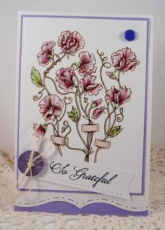 Sweet Pea Show Digital Stamp Set by Power Poppy, card design by Stacy Morgan.