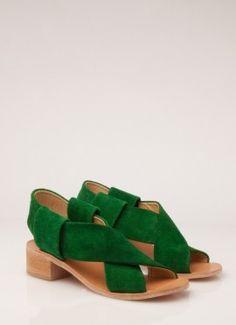Grassy Green suede. Rachel Comey?