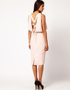 ASOS Drape Dress with Strap Back