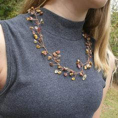 Tree Branch Necklace Nature Necklace Copper Vine by Meditations