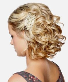 Bridesmaid Hairstyles Chic Short Hair Wedding Bridesmaid-Hairstyle