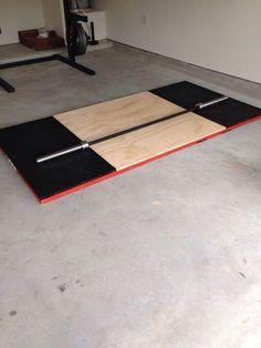 Best Home Gym Setup Ideas You Can Easily Build - The Urban Interior Home Made Gym, Diy Home Gym, Diy Gym Equipment, No Equipment Workout, Fitness Equipment, Training Equipment, Gym Training, Best Home Gym Setup, Deadlift Platform