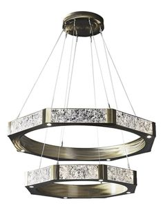Glacier Two-Tier Ring Chandelier - Contemporary Transitional Organic Chandeliers - Dering Hall Ceiling Lamp, Art Deco Chandelier, Ring Chandelier, Nature Inspired Lighting, Modern Chandelier, Contemporary Lighting, Contemporary Light Fixtures, Chandelier, Rustic Chandelier