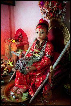 La Niña Diosa de Nepal