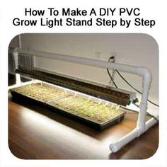 How To Make A DIY PVC Grow Light Stand Step by Step