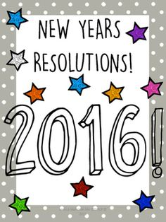 This writing and creative thinking activity is designed to help your students plan their 2016 new years resolutions!Each student will make their own 2016 resolution book that they can take home!There are 6 questions in each book that help your students think about what they want to do in the coming year.1.