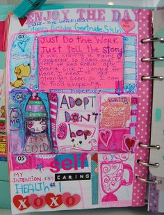 How I document my days in my planner.