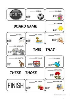 Demonstratives (this, that, these and those) - English ESL Worksheets for distance learning and physical classrooms English Grammar For Kids, Teaching English Grammar, English Worksheets For Kids, English Lessons For Kids, English Writing Skills, English Activities, English Language Learning, English Vocabulary, Listening English
