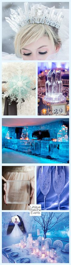 Ice Queen Inspired Winter Wedding #IdeaBoard #InspirationBoard