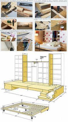 ikea hack aus dem kallax regal und der malm kommode wird ein bett mit unterbauschrank inspiration. Black Bedroom Furniture Sets. Home Design Ideas