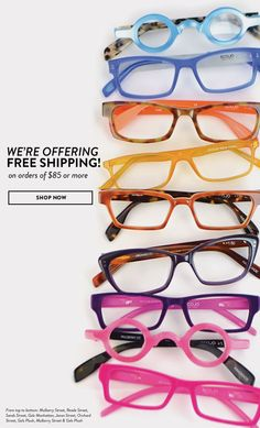 Free Shipping never looked so good. #readers