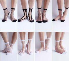 Womeng-Girls-Fashion-Dot-Stripe-Street-Snap-Short-Socks-Transparent-Stockings