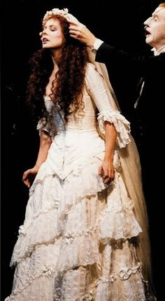 Christine (Sarah Brightman) in the stage production of Phantom of the Opera.