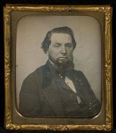 [Portrait of a Man with Bushy Chin Beard]; Unknown maker, American; about 1850; Daguerreotype; 84.XT.1570.6; J. Paul Getty Museum, Los Angeles, California