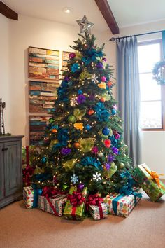 fun and bright Christmas tree