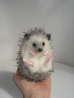 Needle Felted African Pygmy Hedgehog by Tamara111, via Flickr