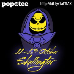 Skellingtor is visiting Pop Up Tee this weekend! http://popuptee.com/collections/frontpage/products/skellingtor 11-13 October.