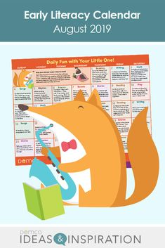 Give parents fun ways to transition their little ones into fall with an August calendar full of early literacy activities. Get ideas for crafts, math and science activities, books, and fun celebrations, like Friendship Day and Coloring Book Day. Free Activities, Literacy Activities, Before Kindergarten, August Calendar, Engagement Tips, Library Events, Reading Themes, Library Programs, Early Literacy