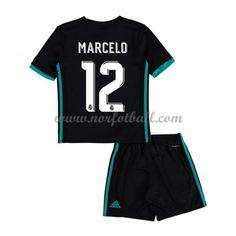 Billige Fotballdrakter Real Madrid Barn 2017-18 Marcelo 12 Borte Draktsett Fotball Kortermet