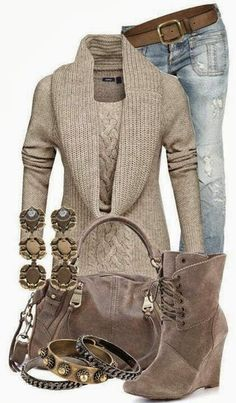 Outfit Ideas For Ladies... Don't like the torn jeans though...