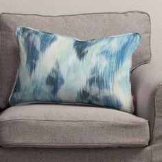 Poszewka Gabi na poduszkę prostokątna 140-71 niebiesko-szary Kolekcja Aquarelle